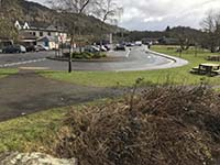 Loch Ard forest. Parking is free in the large town car park and shops are close by if you have forgotten anything.  There is also the tourist infromation centre at the main entrance to the car park.