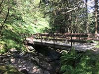 Ardgoil peninsula. Small bridge just before the waterfall
