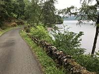 Loch Venachar loop. The first part of the route along the loch is a single tarred route.  Traffic is very light.