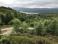 Loch Venachar loop from Lendrick. Loch Venachar can now be seen