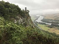 Kinnoull Hill. View approaching the tower
