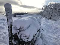 Cocksburn reservoir loop. Love the snow when it is here