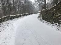 Cocksburn reservoir loop. The road can get slippy in the snow