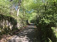 Cocksburn reservoir loop. Lovely, but steep, single track road.