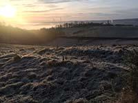 Cocksburn reservoir loop. Early morning view in early spring