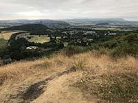 Dumyat hill run. Further up the hill
