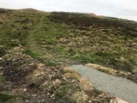 Dumyat hill run. Although most of the new path is well defined, some bits are still old style.