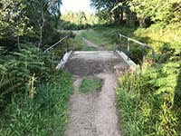The Fungle. Bridge after repairs carried out