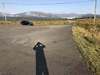 Glen Fruin to Loch Long. The shadow of the photographer shows again.