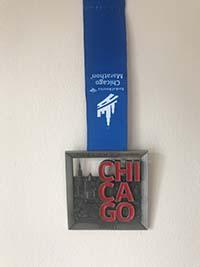 Chicago marathon. The medal