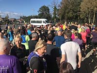 Hel N Back hill race. The mass crowds waiting for the start