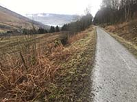 Glens Kendrum and Ogle. First sight of the loch in the distance