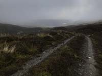 Glens Kendrum and Ogle. There always seems to be a mist.  Into Gleaan Dubh