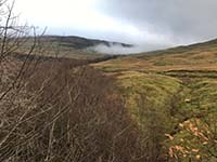 Glens Kendrum and Ogle. Looking back up Gleaan Dubh