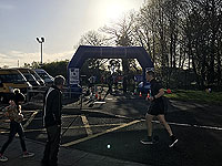Helensburgh 10K. The finish line, just before the start of the race.