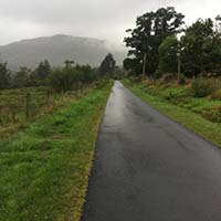 Loch Katrine marathon. An unusual straight bit of the road