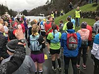 Loch Katrine marathon. This is a small marathon.  Keen runners though.