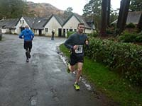 Loch Katrine marathon. At the halfway point in Stronalach.