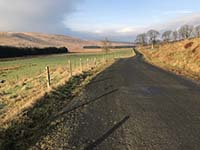 Helensburgh - Glen Fruin. The single track road continues