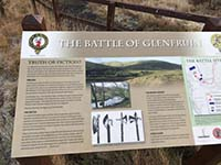 Helensburgh - Glen Fruin. Information board about the battle