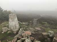 Meikle Tap. Trig in the clouds