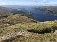 Ben Lomond. Taking a moment to see how far you have climbed