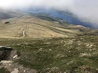 Ben Lomond. Looking for near the top down the return path
