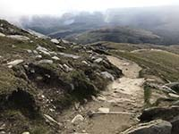 Ben Lomond. Initial path off the top