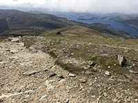 Ben Lomond. From the top towards the loch