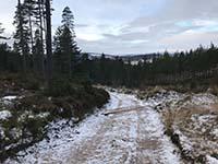 Firmounth. Frsoty with Glentannar ahead