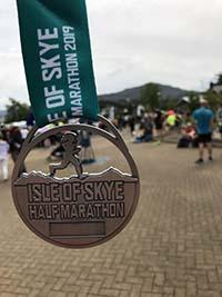 Skye half marathon. Nice medal