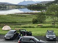 Skye half marathon. The car park has a great view