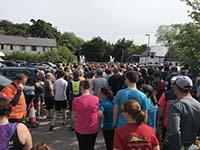 Skye half marathon. Getting ready to go