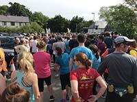 Skye half marathon. Tension building at the start