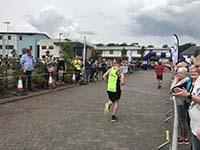 Skye half marathon. Heading to the finish line