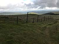Glen Sherup loop. View down the hill towards the river Forth