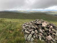 Glen Sherup loop. The view behind the cairn is almost there