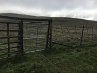 Glen Sherup loop. Through the gate then off to the right