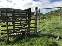 Glen Sherup loop. Once over this take a sharp right keeping the fence close