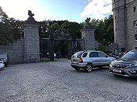 Loch Skene . The gates into Dunecht estate