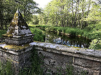 Loch Skene . Close up of bridge