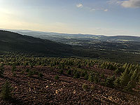 Scolty hill and more. Top of the tower looking down the Dee