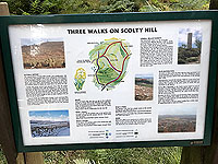 Scolty hill and more. Different routes up the hill