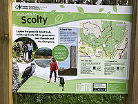 Scolty hill and more. First of several information signs