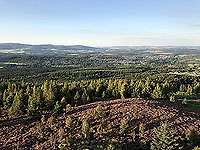 Scolty hill and more. Taken from the top of the tower, towards Banchory