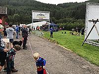 Glen Coe Marathon. Finish line, not too flashy