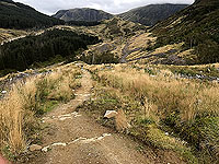 Glen Coe Marathon. Well built path descent