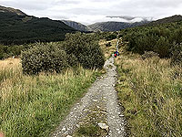 Glen Coe Marathon. Approaching the forest road