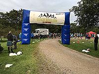 Glen Coe Marathon. Looking back at the start line