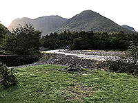 Glen Coe Marathon. From the camp site looking up the glen
